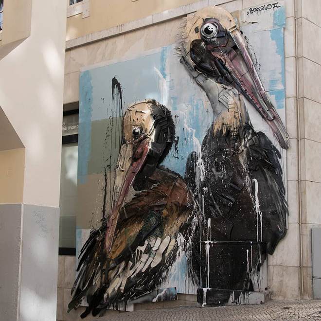 Bordalo II – Pelicans