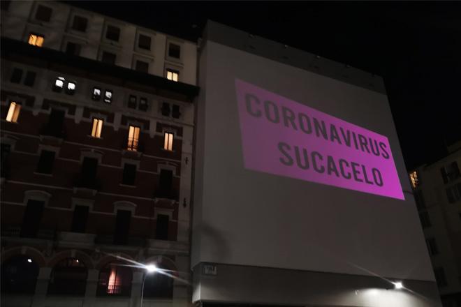 AMADAMA - Coronavirus Sucks, outdoor guerrilla video, Milan, 2020