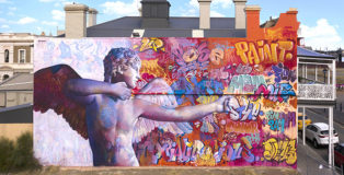 Pichi & Avo - Cupid with bow, Wonderwalls, Port Adelaide (Menpes Street), Australia. photo credit: Vans the Omega