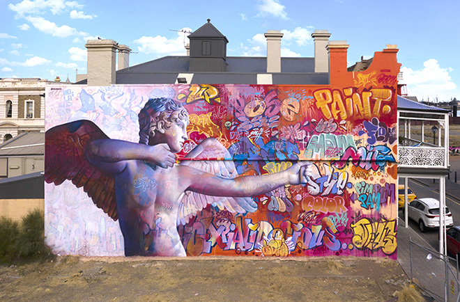 Pichi & Avo –  Cupid with bow, Wonderwalls, Port Adelaide