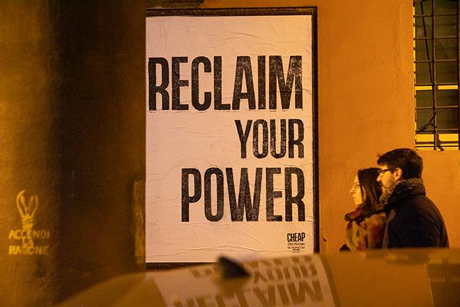 CHEAP - RECLAIM your power, Bologna