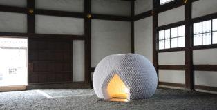 Shi-An - Mobile Tea House. Organizer: Nada Art Gallery. Collaboration: Akinori Inuzuka Design. Photo: Takuya Watanabe. Design Team: Kazuya Katagiri, Ayaka Fuji