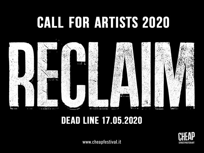 CHEAP - RECLAIM, Call for artists 2020, Bologna