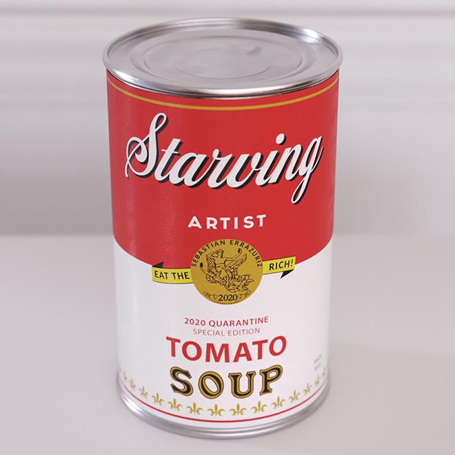 Sebastian Errazuriz - Starving Artist Soup Can