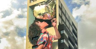 Martin Ron - Murale a Banfield (Argentina)