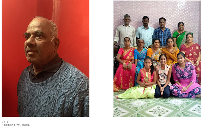 Luisa Carcavale - THE LOCK DOWN PEOPLE, Bala,  Pondicherry, India
