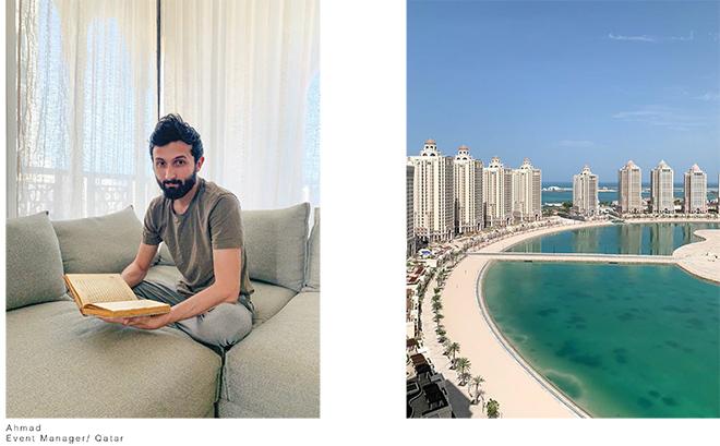 Luisa Carcavale - THE LOCK DOWN PEOPLE, Ahmad, Event Manager/ Qatar