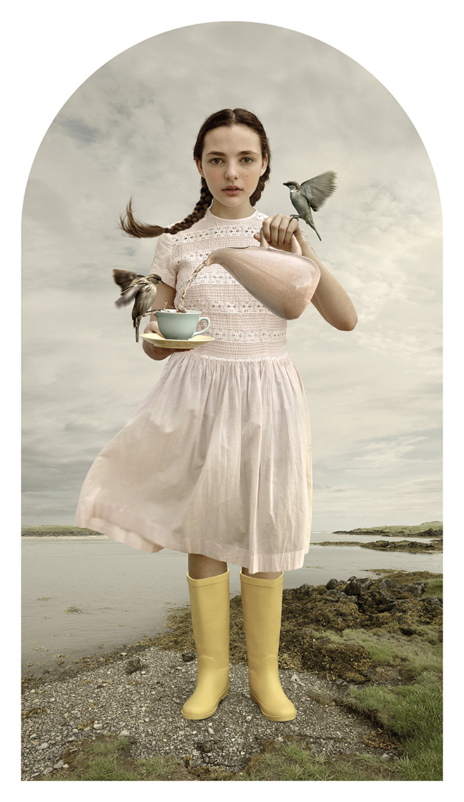 Tom Chambers - Tea For Two, From the series Tales of Heroines (Photomontage, archival pigment print), Particular Merit Mention, AAP Magazine 10 Portrait