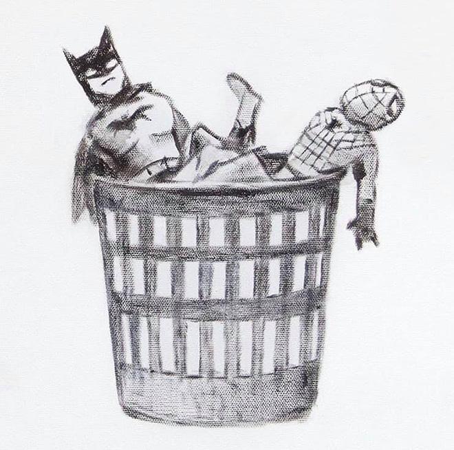 Banksy - Game Changer (detail), Southampton General Hospital