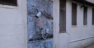 Biancoshock - CCTV, NUART 2020, Lock Down, Paste Up, Aberdeen