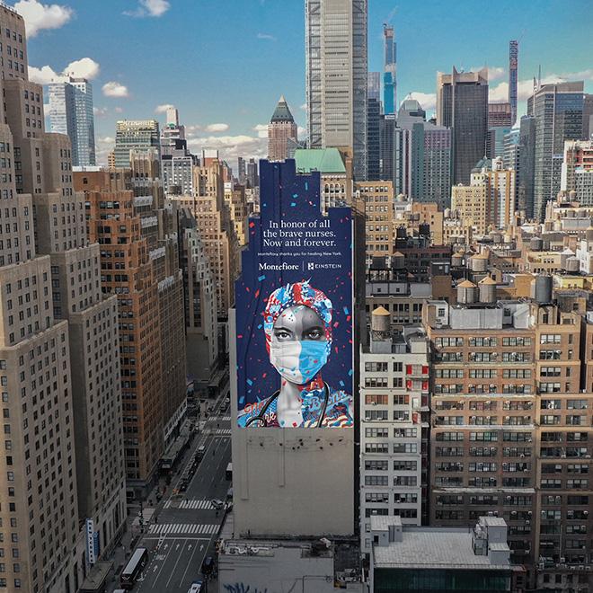 Tristan Eaton - Now & Forever, mural in Manhattan, New York, 2020