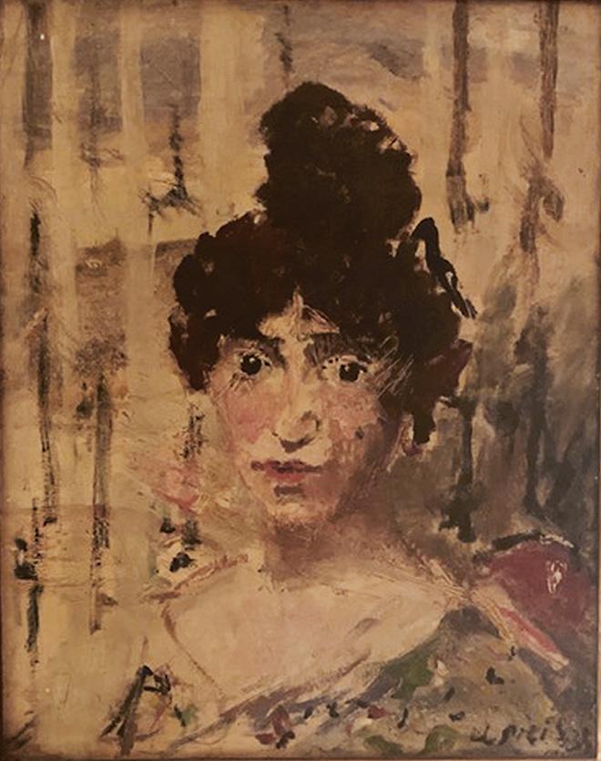 Filippo de Pisis - Colette, 1933. Olio su cartone, 57 × 46 cm Collezione privata. © Filippo de Pisis by SIAE 2019