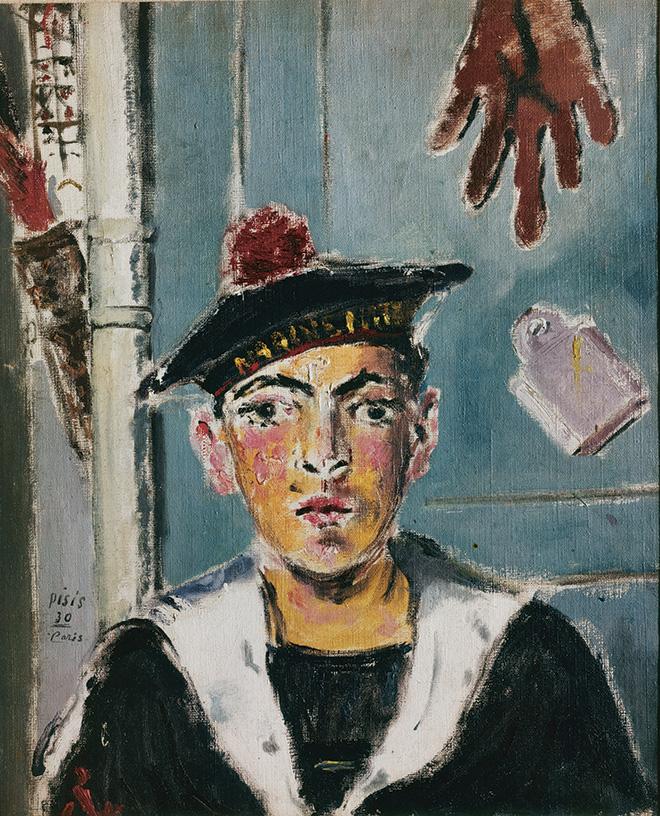 Filippo de Pisis - Il marinaio francese, 1930. Olio su tela, 60 × 50 cm Collezione privata. © Filippo de Pisis by SIAE 2019