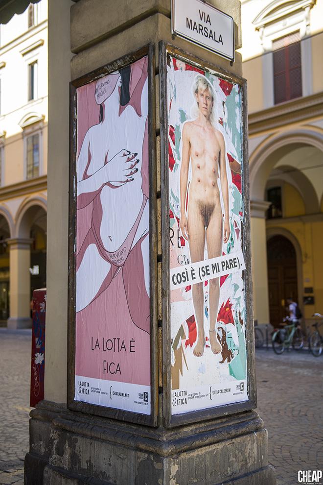 Chiaraliki.art + Silvia Calderoni - La lotta è FICA, Bologna, 2020. Un progetto di public art di CHEAP. photo credit: Michele Lapini