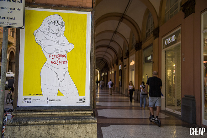Fumettibrutti - La lotta è FICA, Bologna, 2020. Un progetto di public art di CHEAP. photo credit: Michele Lapini