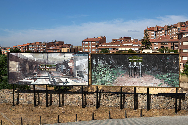 Gonzalo Borondo - INSURRECTA, Segovia, Spain. photo credit: Roberto Conte