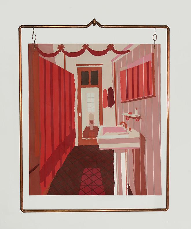Franco Fasoli - 37 Años De Reflejo, 2019, collage on canvas, 106x83 cm., MAGMA gallery
