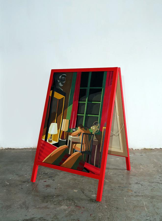 Franco Fasoli - Una fuerza inagotable II, 2019, collage on canvas, 120x77 cm., MAGMA gallery