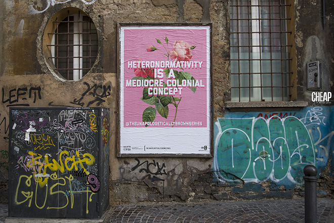 The Unapologetically Brown Series - La lotta è FICA, Bologna, 2020. Un progetto di public art di CHEAP. photo credit: Michele Lapini