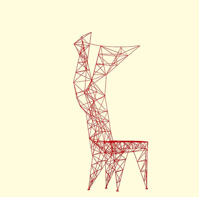 Tom Dixon, Pylon Chair, 1992, prodotta da Cappellini, filo di acciaio saldato a mano, finitura laccata - Courtesy Cappellini, Meda