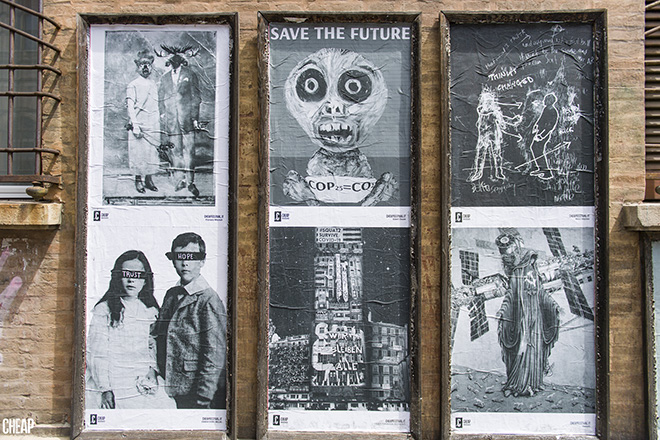 CHEAP - RECLAIM call for artist, 2020, Bologna, street poster art. photo credit: Michele Lapini