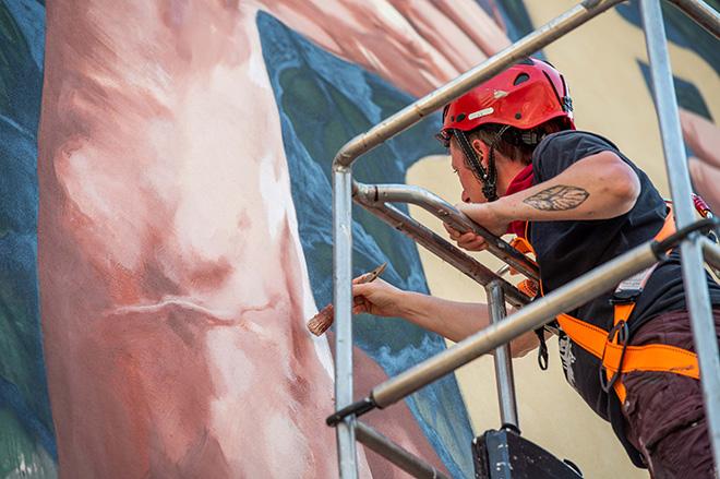 Ale Senso - L'uno nell'altro, (work in progress), TraMe - Tracce di Memoria, Rieti. Photo credit: Marco Bellucci