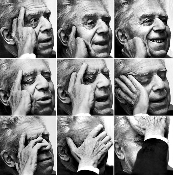 ©Giorgio Lotti - Eugenio Montale, Premio Nobel per la letteratura, riceve la notizia nella sua casa di via Bigli a Milano, 1975