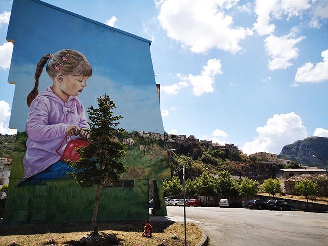 Antonino Perrotta (Attorrep) - OSA Around, Operazione Street Art, Vietri di Potenza, 2020