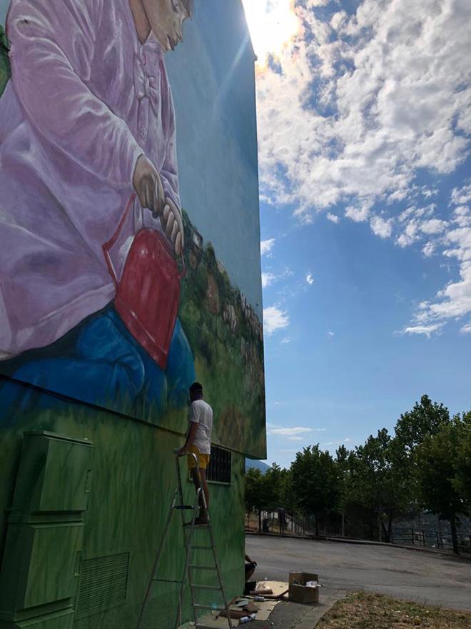 Antonino Perrotta (Attorrep) - OSA Around, Operazione Street Art, (work in progress) Vietri di Potenza, 2020