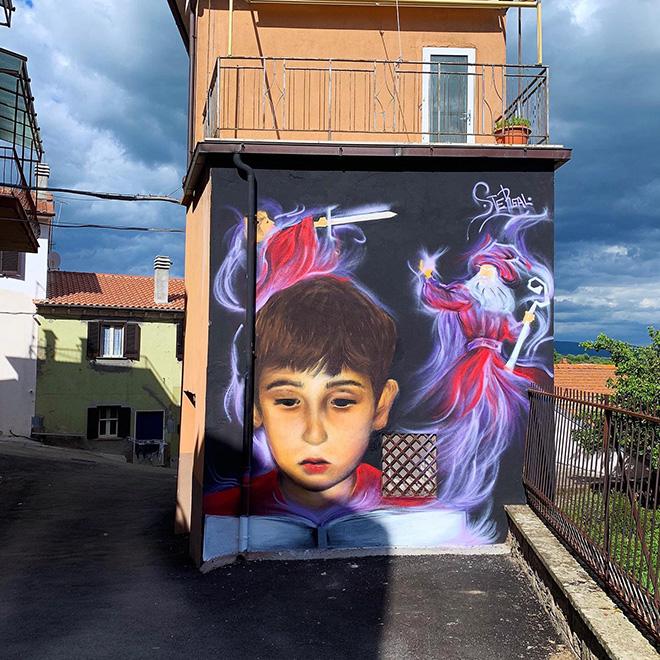 SteReal - Murale, Sant'Angelo di Roccalvecce (VT), 2020