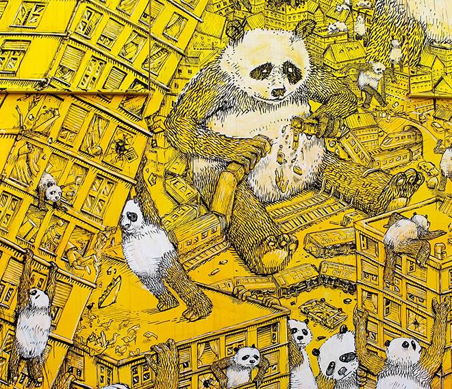 Blu - La Pandemia 🐼, Draw the Line, Campobasso, 2020