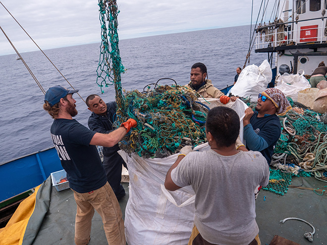 Ocean Voyages Institute, 103 Tons of Plastic Removed From the Great Pacific Garbage Patch. Photo Courtesy of Ocean Voyages Institute
