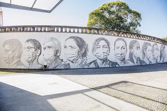 Vhils – Murale al São João University Hospital Centre