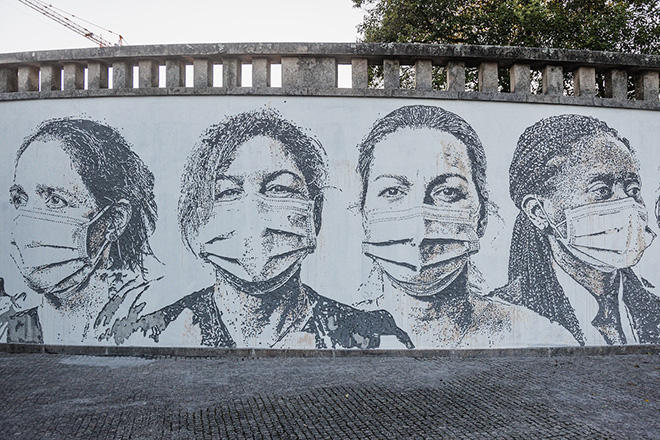 Vhils - São João University Hospital Centre. photo credit: Expandingroots