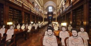 Seduti accanto a Zaky - UniBo e Gianluca Costantini a sostegno di Patrick Zaky