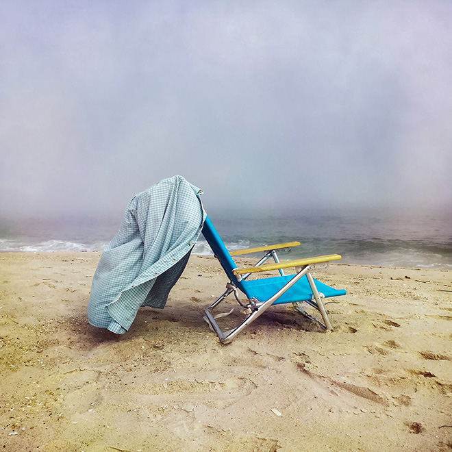 Danielle Moir, USA - Beach Chair, Location: Westhampton Beach, New York Shot on iPhone 6. First Place - Other.  © IPPAWARDS - 2020 Winners