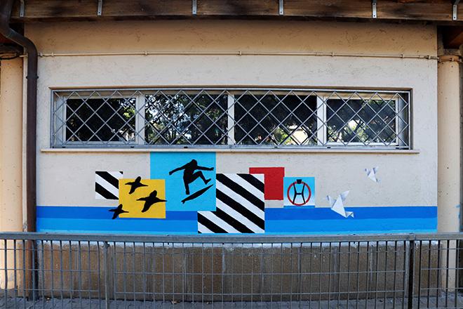 Ostia Up! - Arte urbana al Centro Sociale Anziani di Piazza Ronca