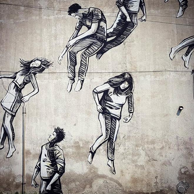 Alice Pasquini - Fade, San Pietro all'Olmo (frazione di Cornaredo), murale per Wonderwall festival