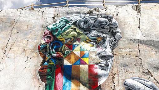 Eduardo Kobra - David multicolor