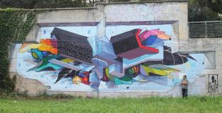 ETNIK - Untitled, murale a Torino, 2020