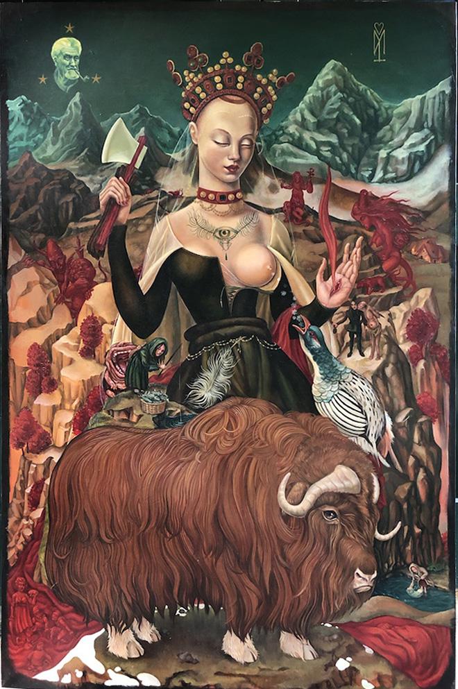 Morg Armeni - Himalayan Goddess, 100x150