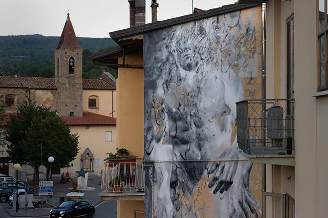 Bosoletti - D'Acqua, murale a Capolona (AR), 52010 Art Fest, 2020