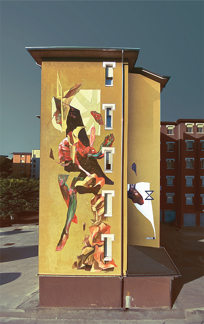 HOWLERS CREW - Alice in borderland, mural for (Without Frontiers, Lunetta a colori), Mantova, Italy, 2020