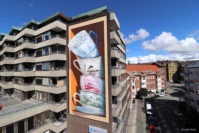 "Leon Keer – ""Shattering"", street art in 3D e realtà aumentata"