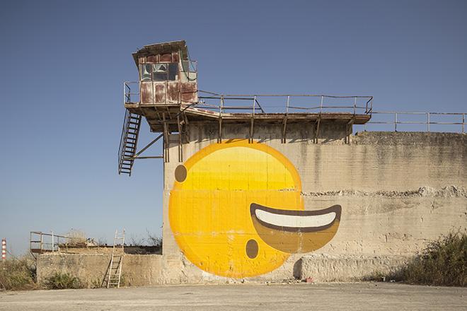 Ampparito - (Destructured smile), murale per BITUME - Industrial Platform of Arts, Ragusa