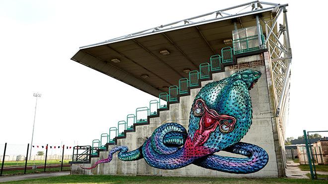 Bastardilla - Murale per Manufactory Project, Comacchio, 2020