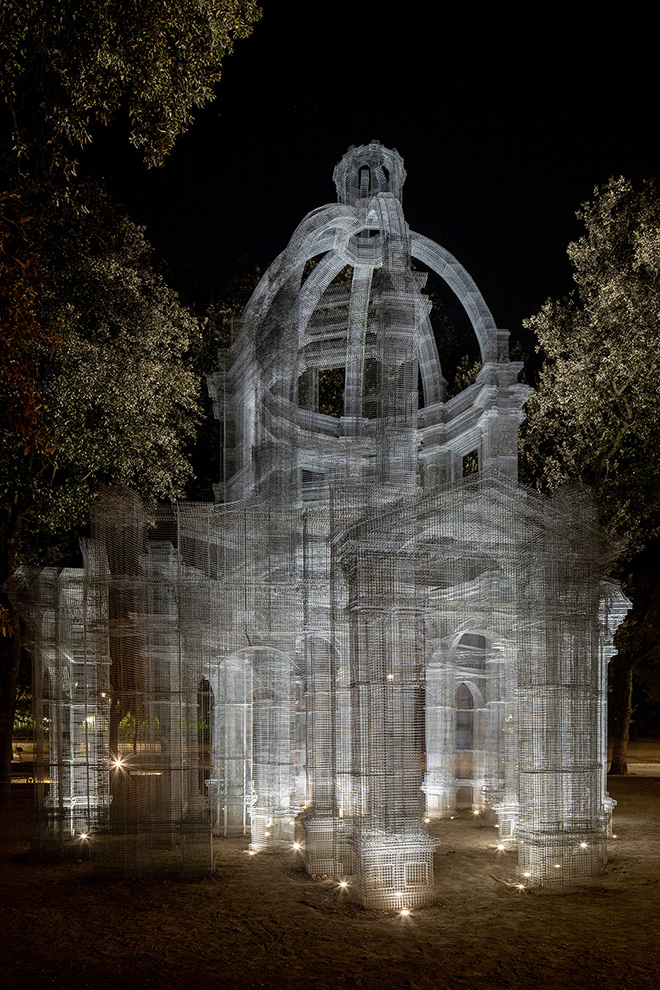Edoardo Tresoldi - Etherea per Back to Nature - Arte Contemporanea a Villa Borghese, Roma. photo credit: Roberto Conte