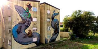 Ericailcane - Murale per Manufactory Project, Comacchio, 2020