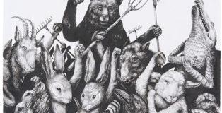 Ericailcane - Manifestazione, 3di4, 70x50 cm.