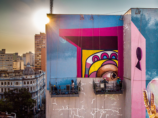 Lidia Viber - Mural for CURA - Urban Art Circuit, Belo Horizonte (Brazil). photo credit: Instagrafite